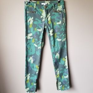 CAbi | Clover Camo Zipper Ankle Jeggings Size 2